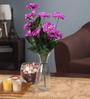 Fourwalls Purple Fabric Artificial Chrysanthemum Flower Bunch