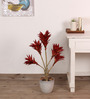 Fourwalls Red Polyester 171 Leaves Artificial Dracaena Plant