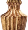 Foyer Gold Wood Candle Stand