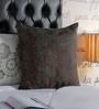Foyer Green & Brown Polysilk 20 x 20 Inch Spread Cushion Cover