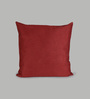 Foyer Red Suede 20 x 20 Inch Suede Cushion Cover