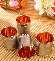 Frestol Copper and Steel 260 ML Glass - Set of 4