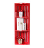 Frames Eclectic Wall Shelf in Red by Bohemiana