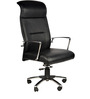 France High Back Office Chair in Black Colour by Chromecraft
