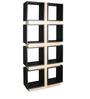 Free Standing Book Shelf cum Display Unit in Black Finish by Arancia Mobel