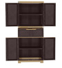 Freedom Multipurpose Cabinet with One Drawer in Brown & Biscuit Color by Nilkamal