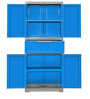 Freedom Multipurpose Cabinet with One Drawer in Center in Deep Blue & Grey Colour by Nilkamal