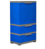 Freedom Multipurpose Cabinet with Two Drawers in Blue & Grey Color by Nilkamal