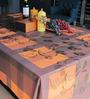 Freelance Orange PVC Checkered 90x60 INCH Table Cover