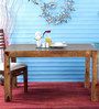 Freemont Six Seater Dining Table in Provincial Teak Finish by Woodsworth