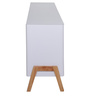 Fressia Side Board in White &Walnut  Finish by Evok