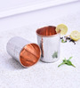 Frestol Silver Copper and Steel 250 ML Hammered Glass  - Set of 2
