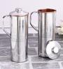 Frestol Silver Copper and Steel 650 ML Jug - Set of 2