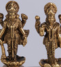 Frestol Golden Brass Antique Vishnu Lakshmi