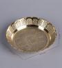 Frestol Golden Brass Pooja Plate