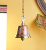 Frestol Orange Brass Mandir Bell with Chain