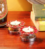 Frestol Red Steel Tea Light Holder - Set of 2