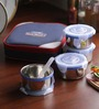 Friends Real Food Navy Blue Stainless Steel 300 ML Lunch Box in Set of 4