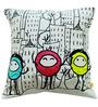 Friends (16 x 16) Cushion by L Orange