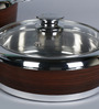 Friends Fantasy Wooden Print Stainless Steel & Plastic Casserole With Lid - Set Of 3