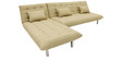 Furny L shaped Sofa bed in Biege colour by Furny