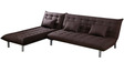 Furny L shaped Sofa bed in Dark Brown  colour by Furny
