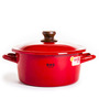 Fujihoro 2900 ML Casserole Deep With Lid - Red