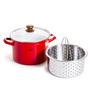 Fujihoro 5600 ML Pasta Stock Pot  - Red