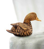 Furncoms Brown Wooden 2 Cross Tail 1 Long Tail Duck Showpiece