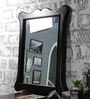 Furniselan Walnut Mango Wood Framed Mirror