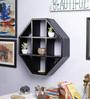Luis Wall Shelf in Walnut by CasaCraft