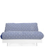 Futon Sofa cum Bed (Double) in Blue Colour by @home