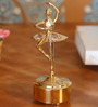 G n G 24K Gold Plated with Swarovski Crystals Musical Base with Ballerina Showpiece