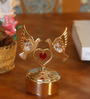 G n G 24K Gold Plated with Swarovski Crystals Musical Base with Dove, Heart Showpiece