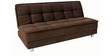 Gaiety luxurious Sofa bed with Sunrise fabrics in Brown colour by Furny