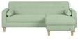 Gansel L Shape Sofa in Pastel Green Colour by Madesos