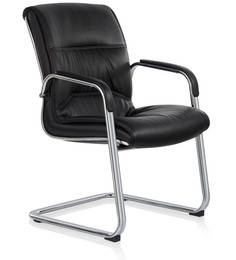 Gamma Ergonomic Chair in Black PU by Oblique