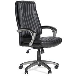 Gary Leatherite Medium Back Chair by Hometown