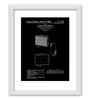Gabambo Paper 12 x 1 x 14.5 Inch Vintage Guitar Amp Patent Blueprint Wood Finish Framed Poster