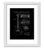 Gabambo Paper 12 x 1 x 14.5 Inch Vintage Guitar Patent Blueprint Wood Finish Framed Poster