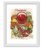 Gabambo Paper 12 x 1 x 14.5 Inch Wine Vintage Art Wood Finish Framed Poster