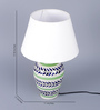 Gaia Table Lamp in White by CasaCraft