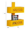Gallows Eclectic Wall Shelf in Yellow by Bohemiana
