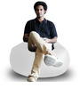 Gamer Chair (Cover Only) XXL size in Elegant White Colour  by Style Homez