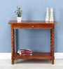 Garbut Compact Console Table in Honey Oak Finish by Amberville