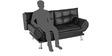 Geneva Sofa cum Bed in Black Colour by Royal Oak