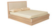 Geo King Bed with Hydraulic Storage in Beige & Cream Colour by HomeTown