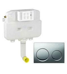 Geberit Bright Chrome PVC Concealed Flush Tank (Model: 14004)
