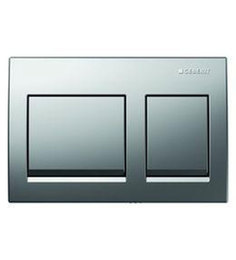 Geberit Matt Chrome PVC Concealed Flush Plate (Model: 14036)