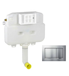 Geberit Matt Chrome PVC Concealed Flush Tank (Model: 14011)